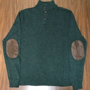 CHAPS Men's Mock Neck Sweater Green, L NWOT